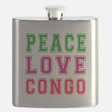 Peace Love Congo Flask