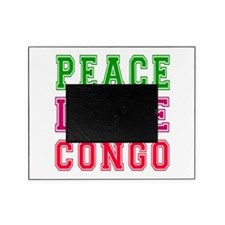 Peace Love Congo Picture Frame