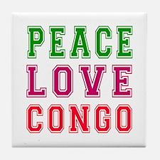 Peace Love Congo Tile Coaster