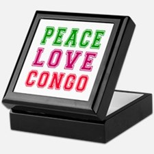 Peace Love Congo Keepsake Box