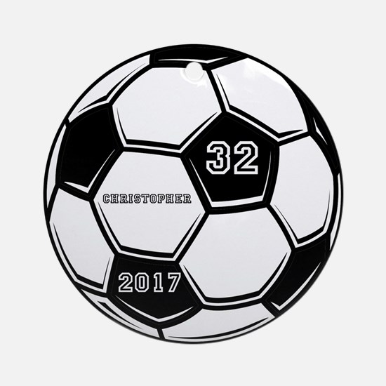 Soccer Seasonal Holiday Round Ornament