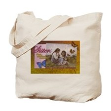 Sisters Childhood Idyll- Jewel Tones Tote Bag