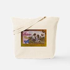 Sisters Childhood Idyll- Jewel Tones Tote Bag