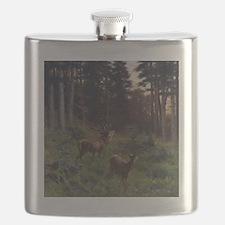 Deer in Forerst Flask