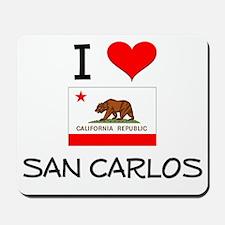 I Love San Carlos California Mousepad