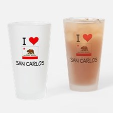 I Love San Carlos California Drinking Glass