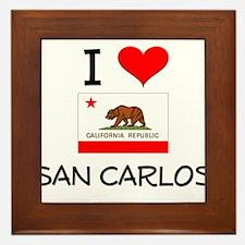 I Love San Carlos California Framed Tile