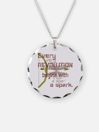 Revolution Spark Bow Arrow Necklace Circle Charm