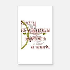 Revolution Spark Bow Arrow Rectangle Car Magnet