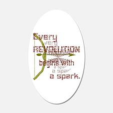 Revolution Spark Bow Arrow Wall Decal