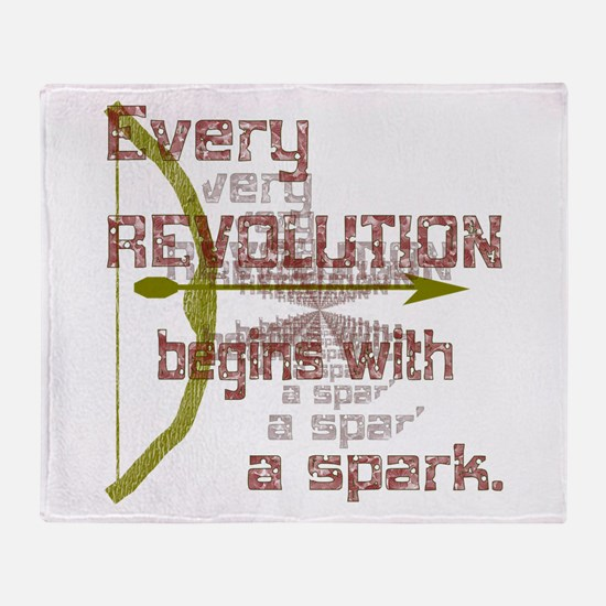 Revolution Spark Bow Arrow Throw Blanket