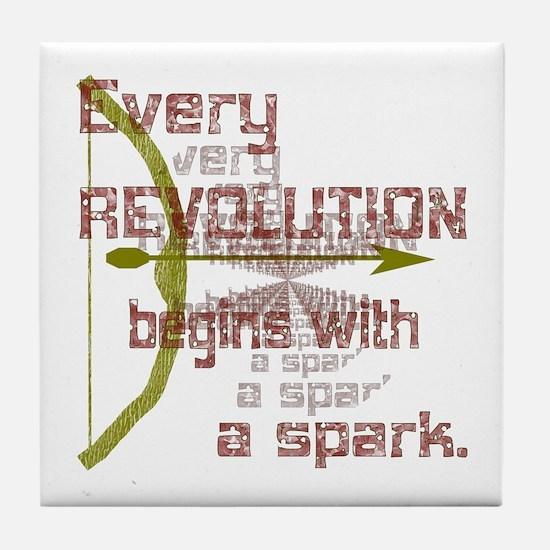Revolution Spark Bow Arrow Tile Coaster