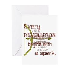 Revolution Spark Bow Arrow Greeting Card