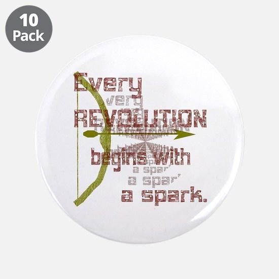 "Revolution Spark Bow Arrow 3.5"" Button (10 pack)"