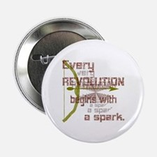 "Revolution Spark Bow Arrow 2.25"" Button"