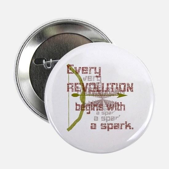 """Revolution Spark Bow Arrow 2.25"""" Button"""
