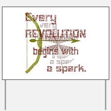Revolution Spark Bow Arrow Yard Sign