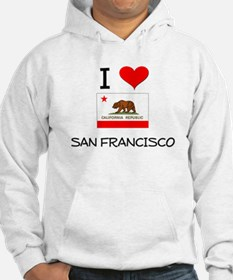I Love San Francisco California Hoodie