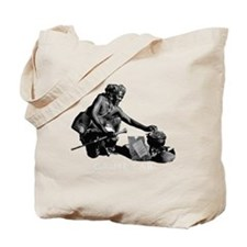 Eating french fries Tote Bag