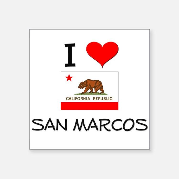 I Love San Marcos California Sticker