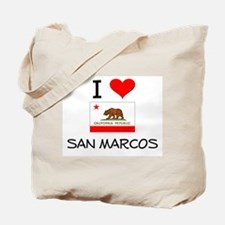 I Love San Marcos California Tote Bag