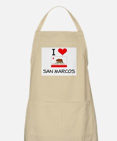 I Love San Marcos California Apron