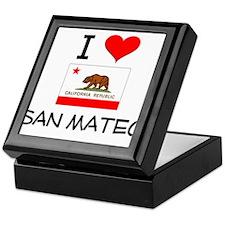 I Love San Mateo California Keepsake Box