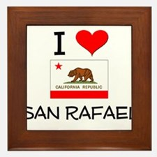 I Love San Rafael California Framed Tile