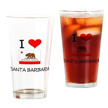 I Love Santa Barbara California Drinking Glass