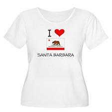 I Love Santa Barbara California Plus Size T-Shirt