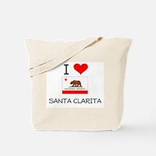 I Love Santa Clarita California Tote Bag