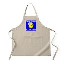 I Love USA Smiley BBQ Apron