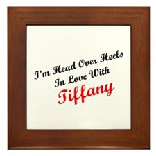 In Love with Tiffany Framed Tile