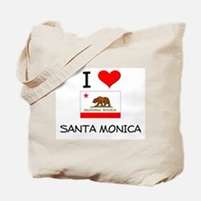 I Love Santa Monica California Tote Bag