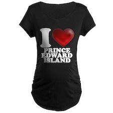 I Heart Prince Edward Island Maternity T-Shirt