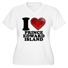 I Heart Prince Edward Island Plus Size T-Shirt