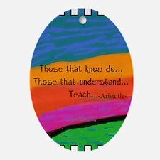 Teacher Appreciation Ornament (Oval)