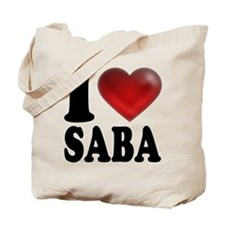 I Heart Saba Tote Bag