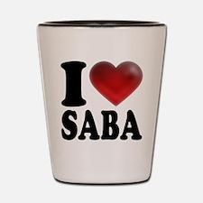 I Heart Saba Shot Glass