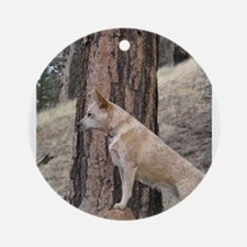 Red Heeler Ready Ornament (Round)