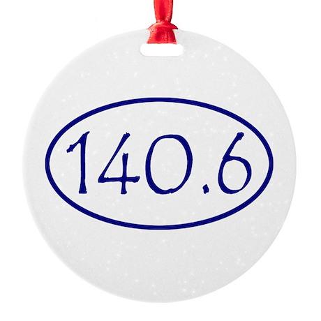 Blue 140.6 Oval Christmas Ornament