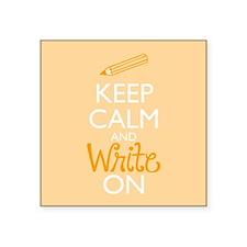 Keep Calm and Write On Sticker