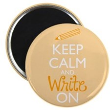 Keep Calm and Write On Magnets