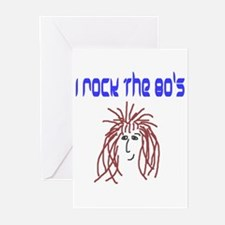 rock the 80's Greeting Cards (Pk of 10)