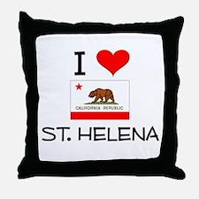 I Love St. Helena California Throw Pillow