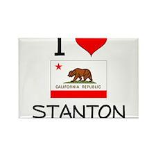 I Love Stanton California Magnets