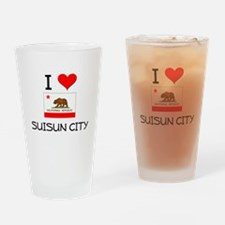 I Love Suisun City California Drinking Glass