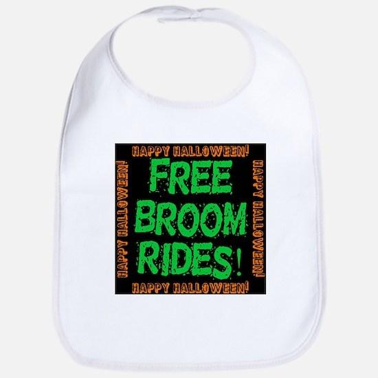 Free Broom Rides Cotton Baby Bib