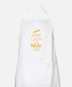 Keep Calm and Write On Apron