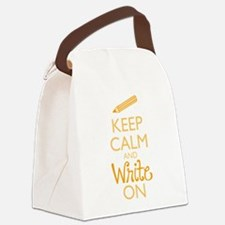 Keep Calm and Write On Canvas Lunch Bag